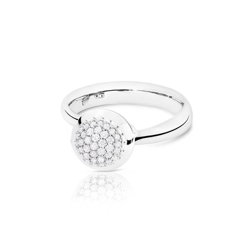 TAM00776-Tamara Comolli Small Bouton Diamond Pavé Ring