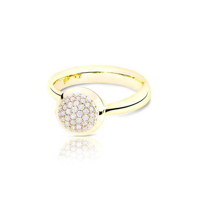 TAM01222-Tamara Comolli Small Bouton Diamond Pavé Ring
