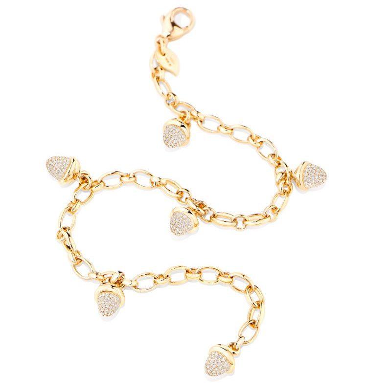 TAM01259-Tamara Comolli Mikado Yellow Gold Diamond Pavé Charm Bracelet