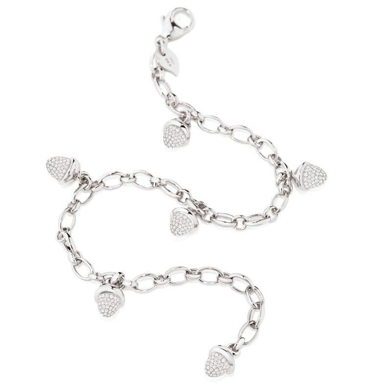 TAM01261-Tamara Comolli Mikado White Gold Diamond Pavé Charm Bracelet