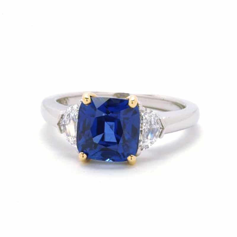 BCO00058-Bayco-Cushion-Sapphire-Ring
