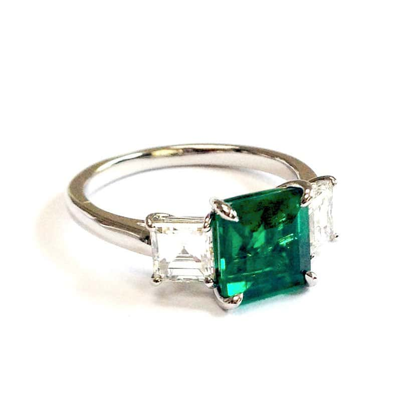 BCO00059-Bayco-Emerald-and-Diamond-Ring