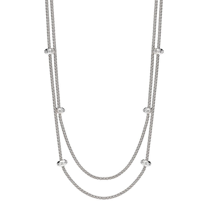 FOP00125-Fope-Phylo-Double-Strand-Diamond-Necklace