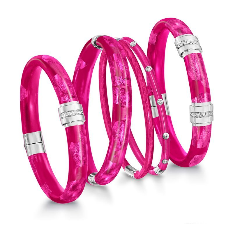 SOHO-Pink-Enamel-Bangles