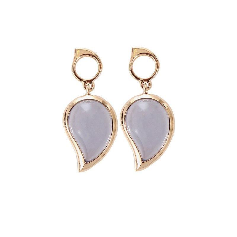 TAM01041-Tamara Comolli Blue Chalcedony Drop Earrings