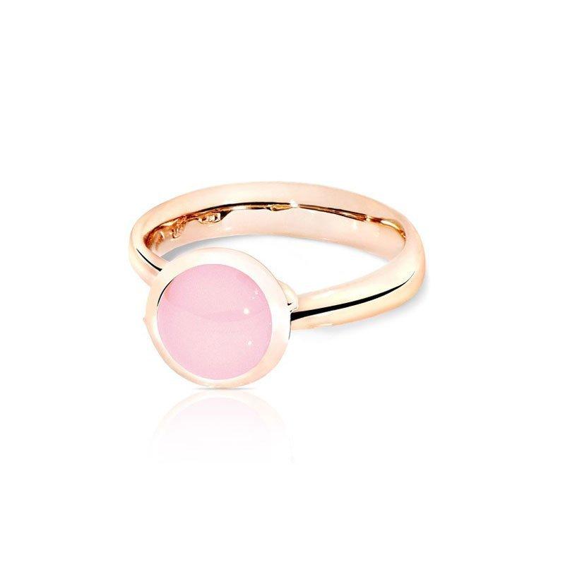 TAM01193-Tamara Comolli Small Pink Chalcedony Bouton Ring