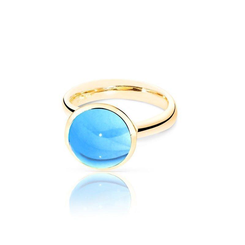 TAM01221-Tamara Comolli Large Swiss Topaz Bouton Ring
