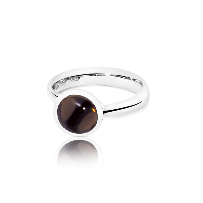 TAM01236-Tamara Comolli Small Smokey Quartz Bouton Ring