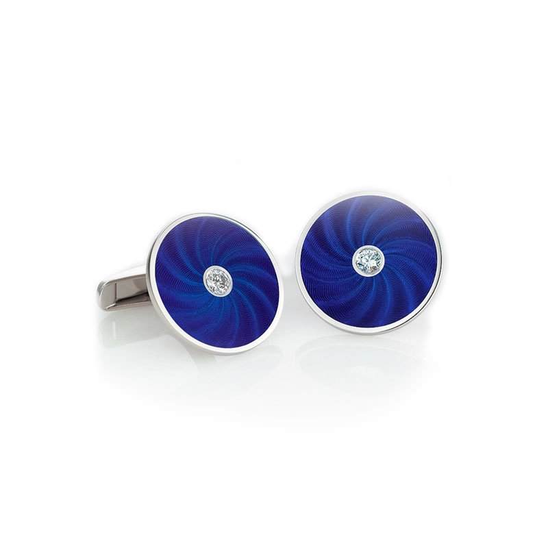 VM00135-Victor-Mayer-Blue-Enamel-Cufflinks