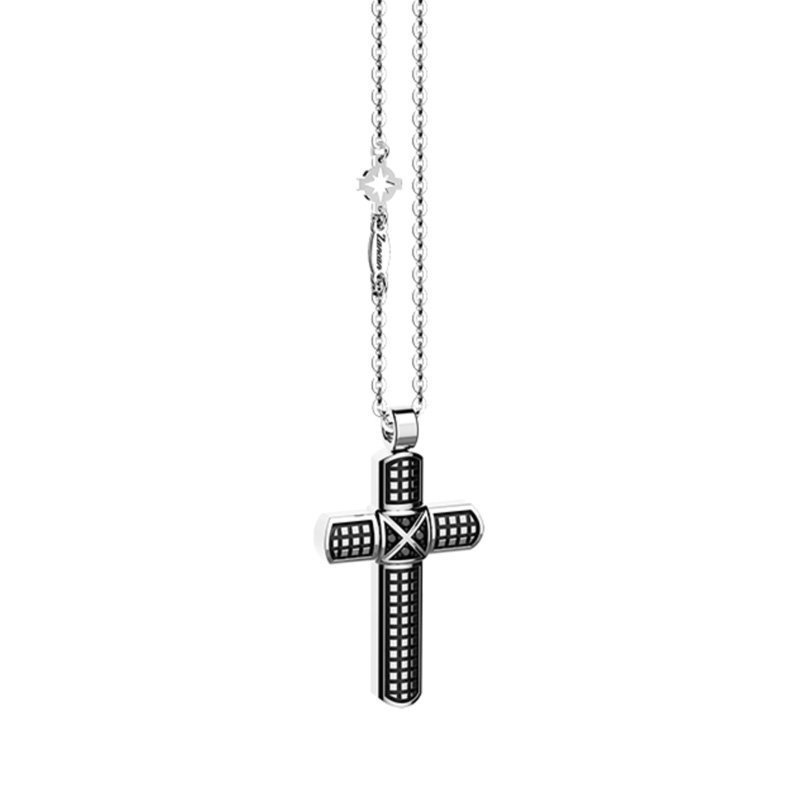 Zancan-Cosmopolitan-Cross-Pendant-Necklace-ZAN00162-Style-No-EXC460L